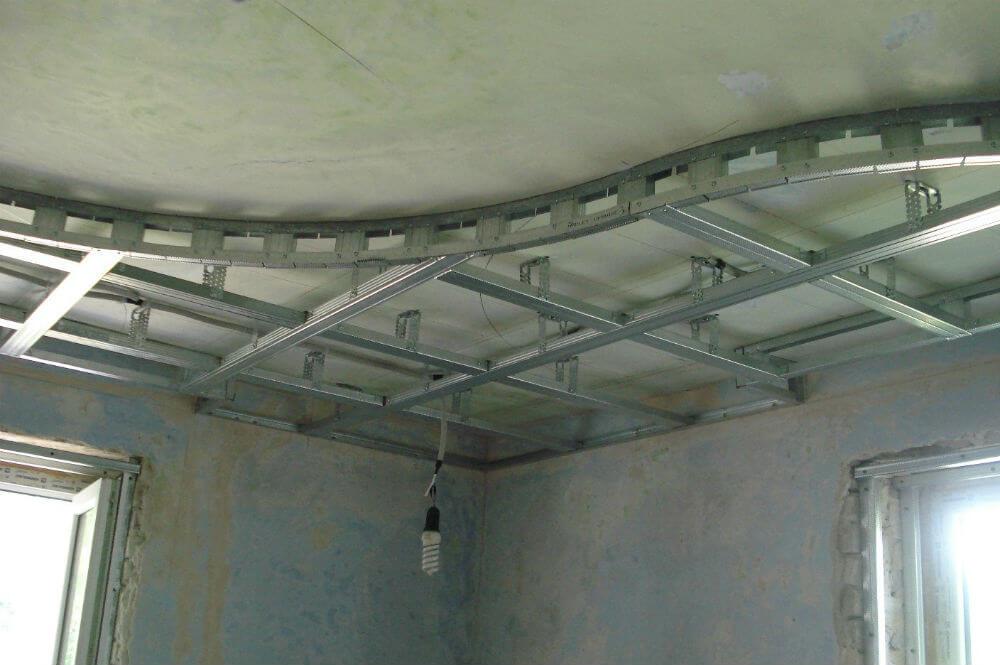 Металлический каркас для подвесного потолка