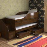 Лаконичная кровать