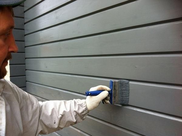Покрытие фасада краской