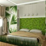 Дизайн спальни в эко-стиле в зелёной цветовой гамме
