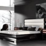 Дизайн спальни в стиле ар-деко в чёрно-белом исполнении