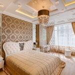 Спальня ар-деко в золотистых тонах