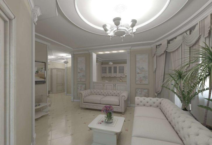 Гостиная в античном стиле