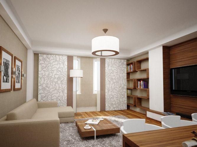 Спальня-гостиная в эко-стиле