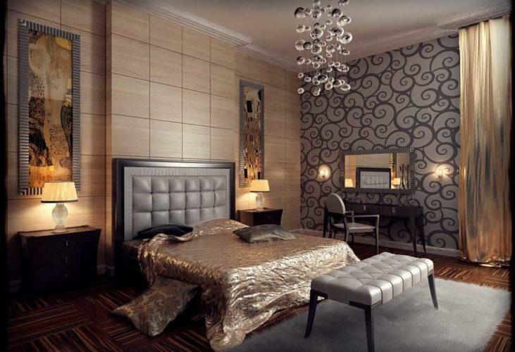 Отделка спальни в стиле ар-деко