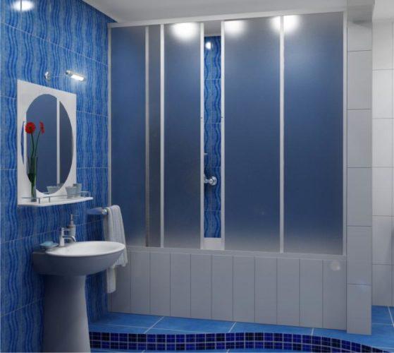Пластиковая перегородка в ванной
