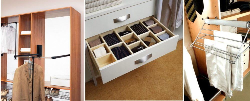 Системы хранения для шкафа-купе