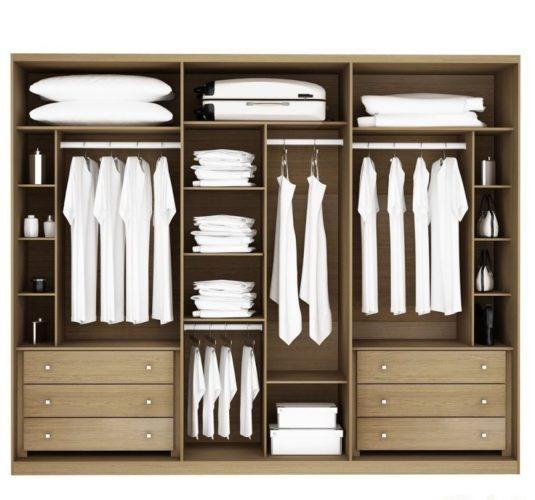 Идея внутреннего наполнения шкафа-купе