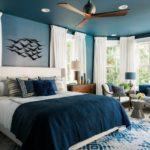 Дизайн спальни в синих тонах