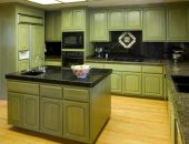 Кухня в зеленых тонах