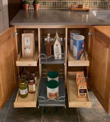 Хранение банок и упаковок на кухне