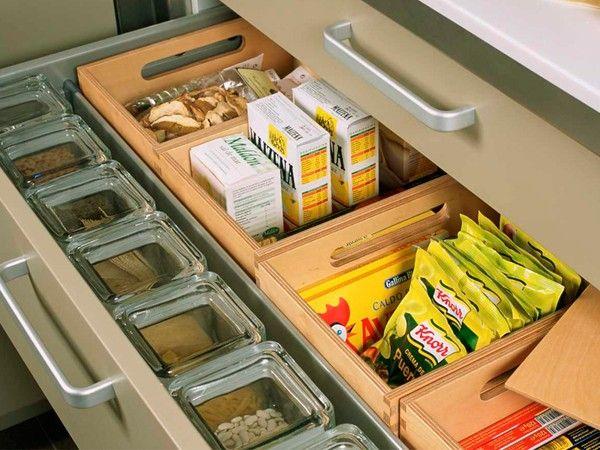 Идея хранения в кухонном шкафу