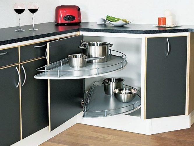 Полка-карусель для кухонной утвари