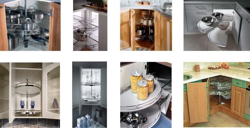 Варианты полок для кухонных шкафов