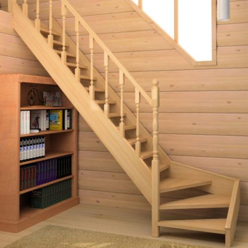 Небольшая деревянная лестница на второй этаж