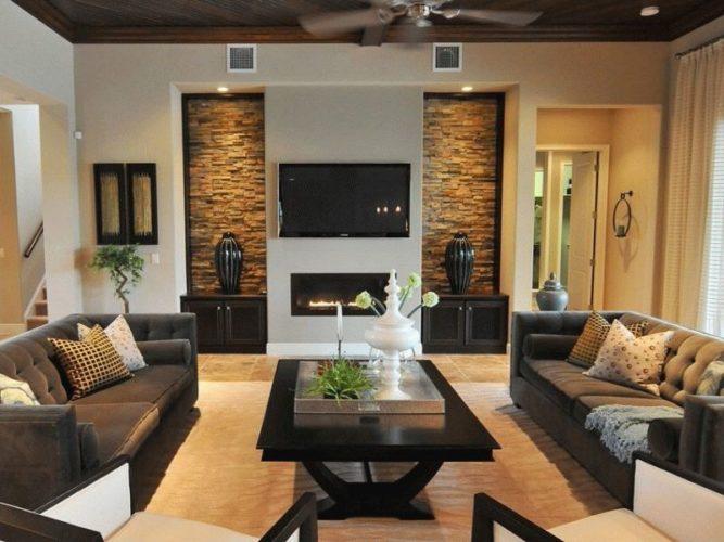 Встроенный электроками в гостиной