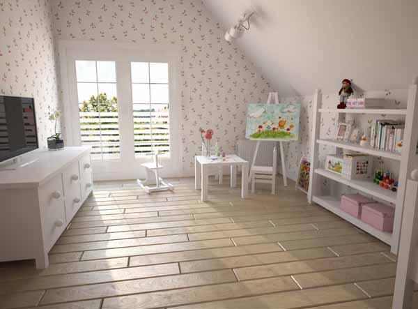 Небольшая комната в мансарде