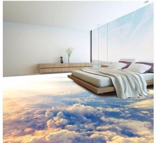3D-наливной пол в спальне