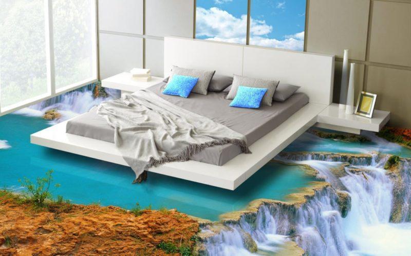 3D-полы в спальне