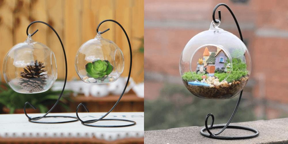 Стеклянные шары с декором