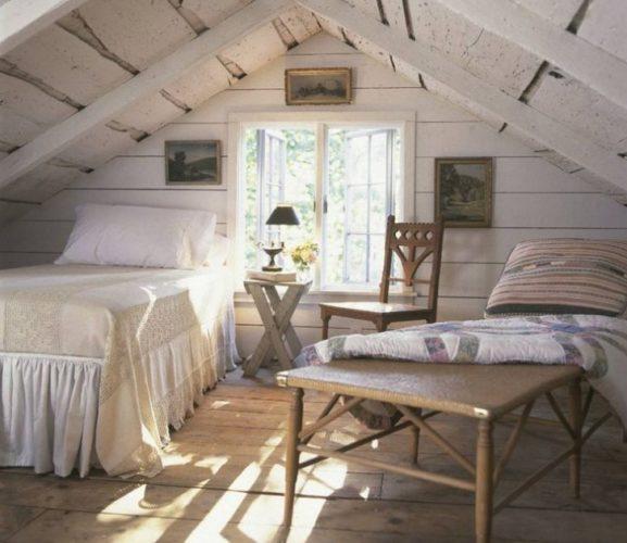 Комната отдыха на чердаке