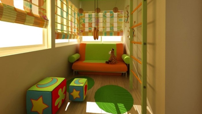 Игровая зона для детей на лоджии
