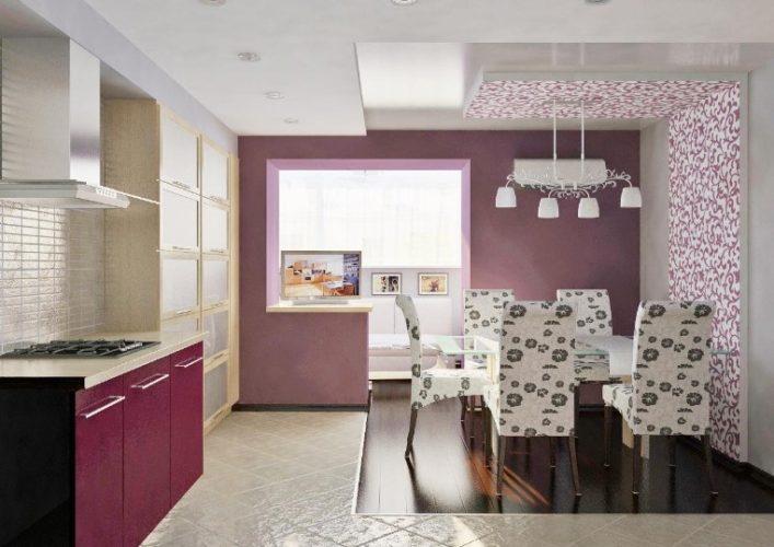 Интерьер кухни в бежевых тонах