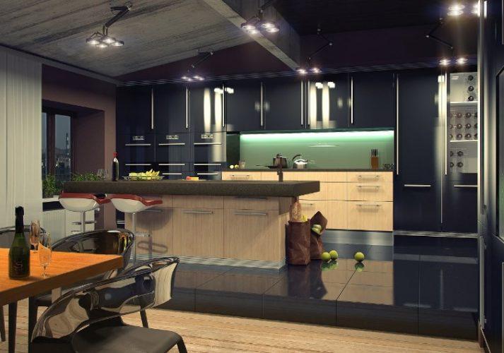 Обустройство кухни в серых тонах