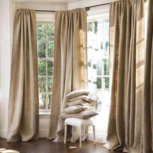 Длинные шторы для дачи