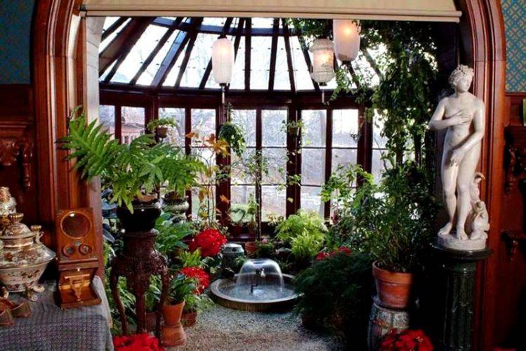 Зимний сад в эркере
