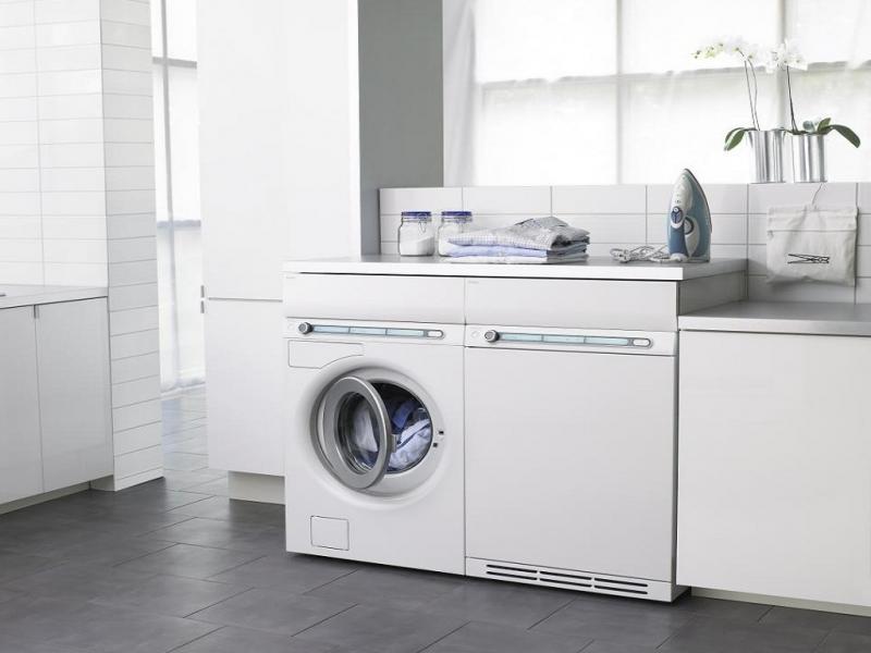 Размещение стиральной машины в прачечной