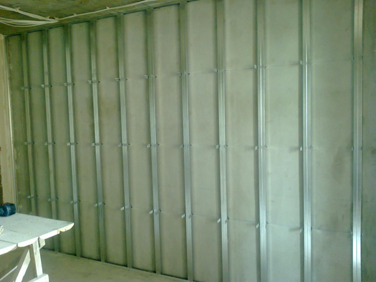 каркас под гипсокартон из металлопрофиля стены