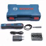 Комплектация аккумуляторной отвертки Bosch GO