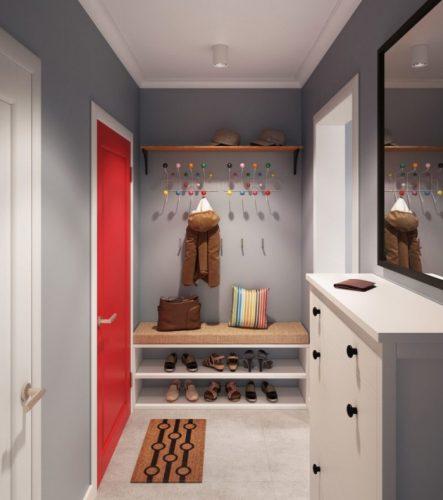 Дизайн прихожей в однокомнатной квартире 38 кв м