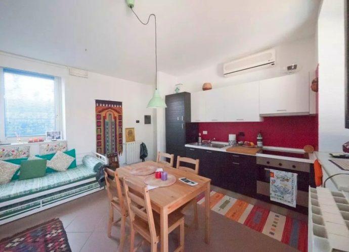 Идея планировки и дизайна кухни в квартире 30 кв м
