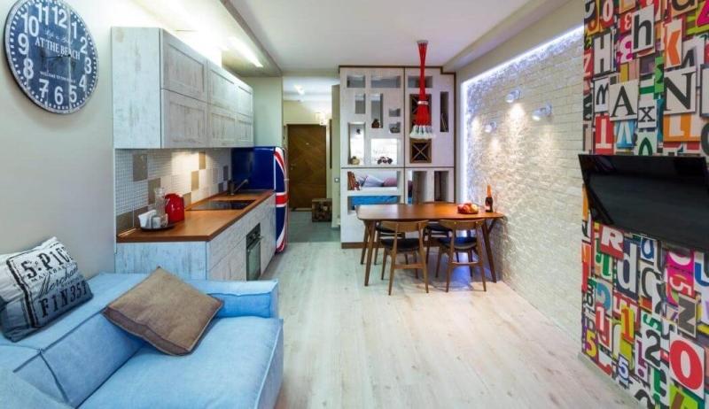 Планировка и дизайн однокомнатной квартиры 30 ква м