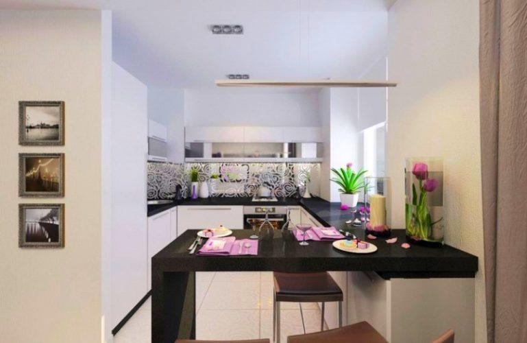 Вариант планировки кухни в однокомнатной квартире 30 кв м