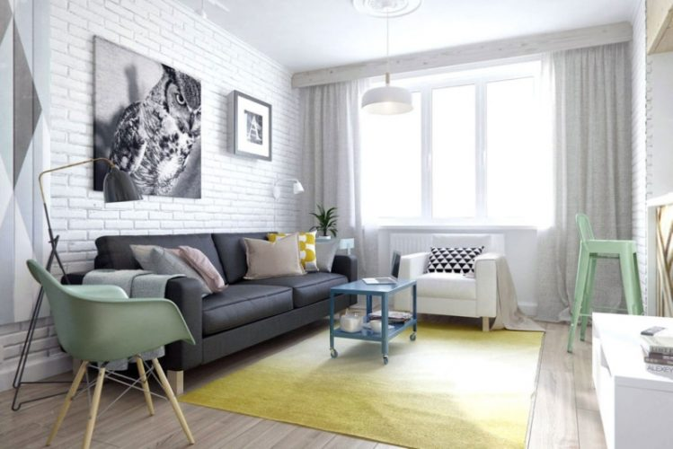 Дизайн гостиной в однокомнатной квартире 30 кв м