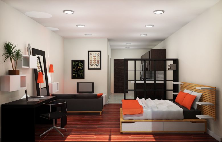 Визуализация дизайна квартиры-студии