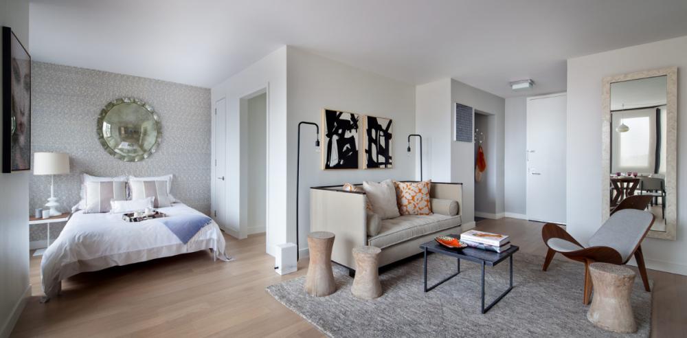 Светлая и просторная квартира-студия