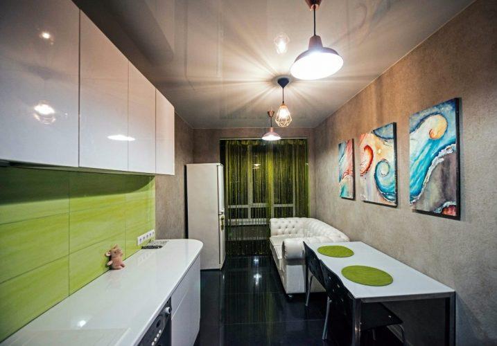 Стены кухни, покрытые декоративной штукатуркой