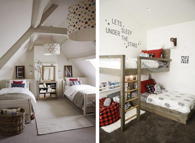 Раздельные кровати в детских комнатах