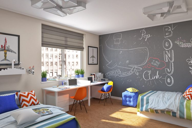 Детская комната с яркими акцентами
