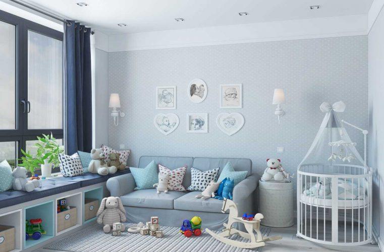 Тотальный голубой в детской комнате