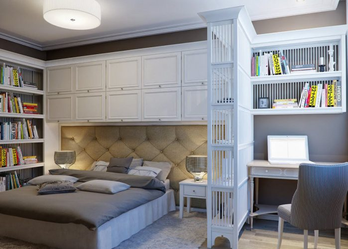 Спальня с рабочей зоной