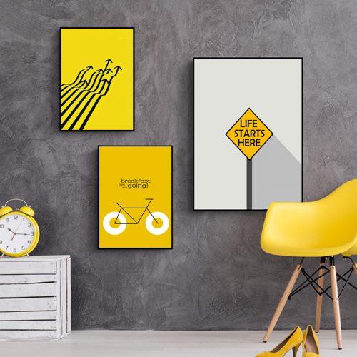 Дорожные знаки в интерьере