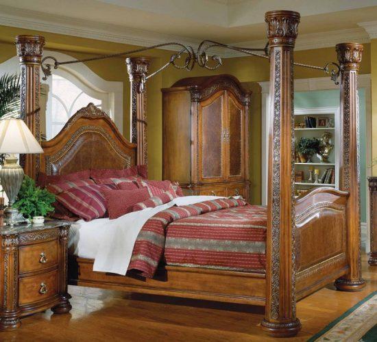 Спальня в испанском колониальном стиле