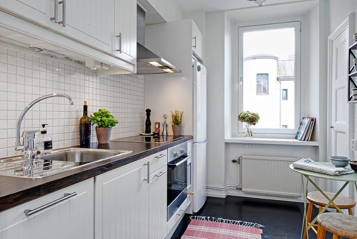 Использование белого цвета в оформлении кухни