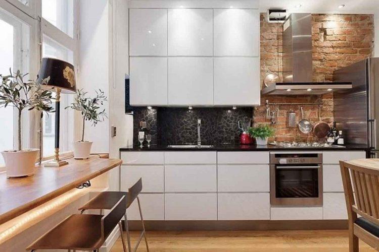 Альтернативное использование подоконника на кухне