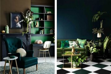 Изумрудный цвет в оформлении квартиры